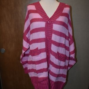 Lularoe Large Lucille Pink Striped NWT